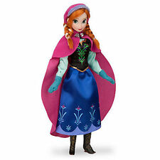 """Disney Store Authentic Frozen Anna Play Toy Doll Figure 12"""" New in Box"""