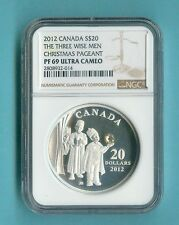 CANADA NGC PF-69 $20 2012 THE THREE WISE MEN CHRISTMAS PAGENT ALL PCKG INC