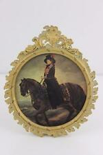 Antique French Empire Style Gilt Brass Ormolu Picture Photo Frame 13x11cm