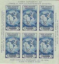 USA 1934 Unificato Foglietto BF4