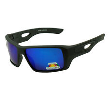 New Eyepatch 2 Mens Large Square Polarized Sunglasses - Matte Black /Blue Lens