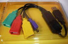 USB 2.0 Verlängerung Kabel Anschlusskabel 4Port Adapter Hub 3x A BU 1x miniB ST