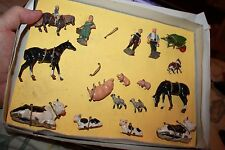 Britain's Lead vintage Farm figurine set of Animals & People in box 17 pieces
