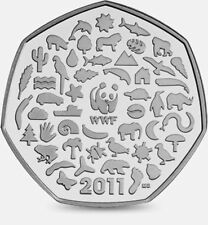 2011 50P COIN RARE WWF WORLD WILDLIFE FUND 50TH ANNIVERSARY FIFTY PENCE xx