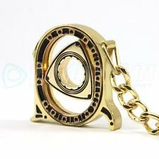 SPINNING ROTOR KEYCHAIN - GOLD MAZDA RX7 RX2 RX8 R100 ROTARY ENGINE 10A 12A 13B