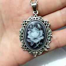 1pcs Fashion Flowers Goddess Cameo Charm silver Alloy Lady Necklace