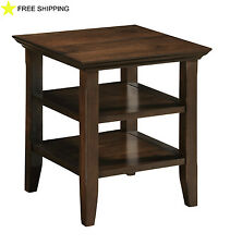 Office End Side Table Living Room Drawer Furniture Wood Small Storage Mission