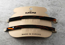 Vintage Hair Pins Bobby Pins Karina Made in France Pair Accessory 3 1/2""