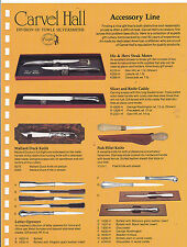 VINTAGE AD SHEET #3197 - CARVEL HALL - ACCESSORY LINE - KNIVES