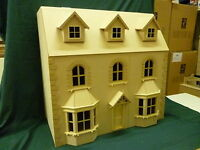 "Victorian Bay Window Dolls House  6  Rooms  1/12 Scale  30"" wide 15"" deep KIT"