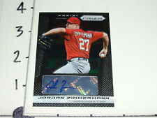 2013 PRIZM Jordan ZIMMERMANN Auto Washington NATIONALS Wisconsin-Stevens Point