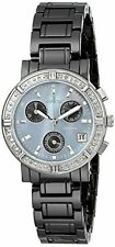 Invicta 0728 Women Black Ceramics Diamond Chrono Watch