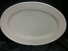 "WILLIAMS SONOMA EMBOSSED RABBIT SERVING PLATTER 19.5 X 13.5"" WHITE"