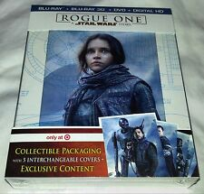 New Star Wars Rogue One 3D+2D Blu-ray DVD Digital HD Target Exclusive 5 Disc Set