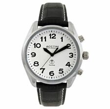 Acctim Men Radio Controlled Talking Leather Strap Watch 60343