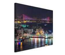 120x80cm Leinwandbild auf Keilrahmen Bosphorus Brücke Istanbul