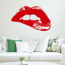 Wall Decal Fashion Woman Hot Lips Vinyl Sticker Art Home Decor Beauty Salon SM99
