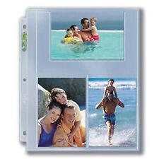 (10) Ultra Pro 4 x 6 Photo Postcard 3-Pocket Album Binder Pages Index, Prints