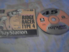 PS1 GAME PLAYSTATION MAGAZINE PLAYABLE DEMO 45 RIDGE RACER TYPE 4.