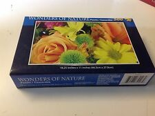 Wonders of Nature Puzzle Casse-tet Flowers Rose Daisy Sunflower Jigsaw New 500