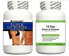 2 Weight Loss Slimming Diet Pills Fat Burner Detox Cleanse Cleanser Lose Weight