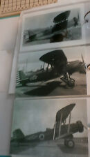 WWII U.S. ARMY CURTISS & DOUGLAS BIPLANE AIRPLANES LOT OF 3 B&W 4X6 PHOTOGRAPHS