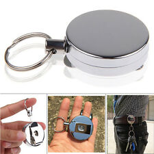 Retractable Pull Reel Key Chain Belt Clip Heavy Duty ID Tag Card Badge Holder