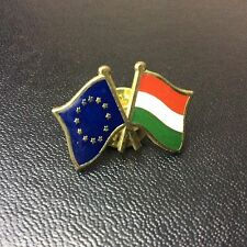 European Union And French Flag Friendship Badge