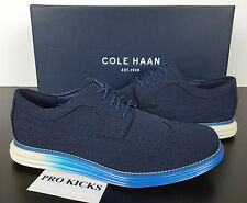 COLE HAAN LUNARGRAND LONG WINGTIP OXFORD BLAZER BLUE TEXTILE C20046 =SIZE 8 WIDE
