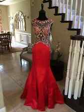 $598 NWT RED JOVANI PROM/PAGEANT/FORMAL DRESS/GOWN #27738 SIZE 0
