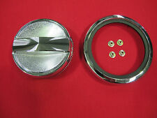FORD FALCON XW XY GT GS HO PETROL FUEL CAP AND CHROME RING WITH SPEED NUTS NEW