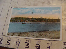 Orig Vint post card 1930 FALLS RIVER MASS WATERFRONT-RADIO VOTE CONTENT