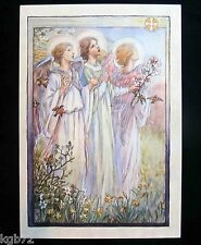 Leanin Tree Easter Greeting Card Flowers Angel Angels Multi Color E10