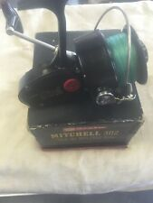 Vintage Mitchell Garcia 302 Salt Water Fishing Reel With Box