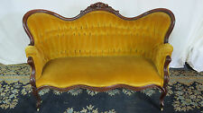 Victorian Couch Loveseat Carved Antique Set
