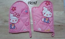 2 pcs Hello Kitty Oven Mittens Pot Holder Baking Kitchen