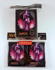 80 Ultra Pro Sleeves + Deckbox Set - Mana 4 Black Liliana