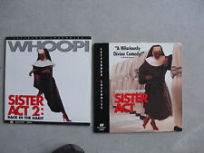 Lot of 2 Movie Laserdiscs Sister Act and Sister Act II