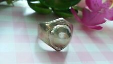Beautiful Heavy Solid Ball Band Ring Real Sterling Silver *Size 6.5 *V046