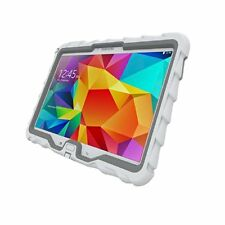 """Samsung Tab 4 10"""" - Hideaway with Stand - Ruggedized Case  - White - Grey"""