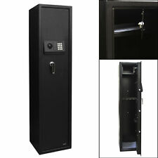 5 Gun Rifle Security Electronic Digital Lock Tall Safe Pistol Storage Cabinet