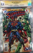 SUPERMAN UNCHAINED #1 1:50 VARIANT CGC SS 9.8 ORIGINAL JIM LEE BATMAN ART SKETCH