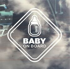 INTERNAL USE Baby On Board / New Baby Car Sticker. Baby Bottle/ Milk