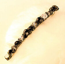 1pcs Women Black Crystal Rhinestone Hairpin Barrette Girls Ladies Hair Clip