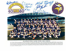 1969 MINNESOTA VIKINGS 8X10 TEAM PHOTO KAPP ELLER YARY  FOOTBALL FAC'S AUTOS
