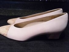 Women's Shoes BEIGE LEATHER UPPER Made in SPAIN Etienne Aigner Size 8M ANN MARIE