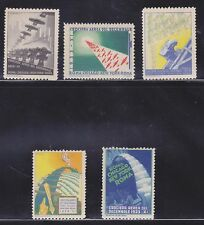 ITALY 1933 ART DECO BALBO AVIATION POSTER STAMPS
