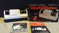CHEFS CHOICE ELECTRIC DIAMOND HONE 3 STAGE KNIFE SHARPENER MODEL 110 EUC in box