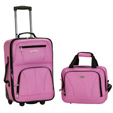 Rockland Rio Upright Carry-On & Tote 2-Piece Luggage Set - Pink