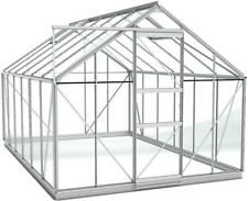 Simplicity Sun Greenhouse  8ft3 x 12ft4  Plain Aluminium horticultural glass